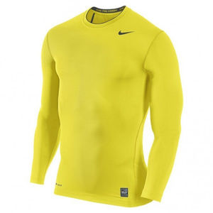 Men's Nike Yellow Pro Combat Compression Top